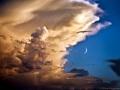 Clouds, Birds, Moon, Venus by Isaac GP